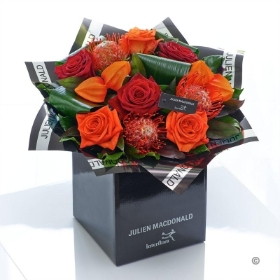 Dazzling Autumn Rose Hand tied