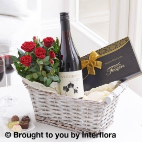 Luxury  Red Wine Gift Basket