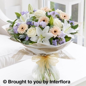 Soft Pastels Scented Sympathy Hand tied