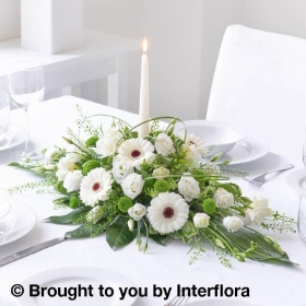 Shimmering White Table Top Candle Arrangement