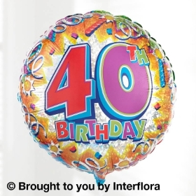 40th Helium Balloon
