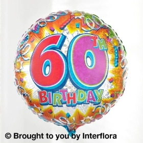 60th Helium Balloon