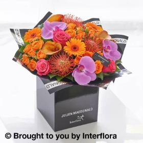 Julien Macdonald Autumn Spice Calla Lily and Orchid Hand tied