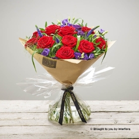 Red Rhapsody Hand tied