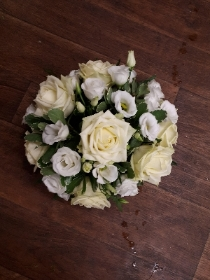 A Simple White Rose posy